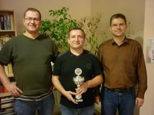 Die drei Bestplatzierten der Blitz-Einzelmeisterschaft 2012